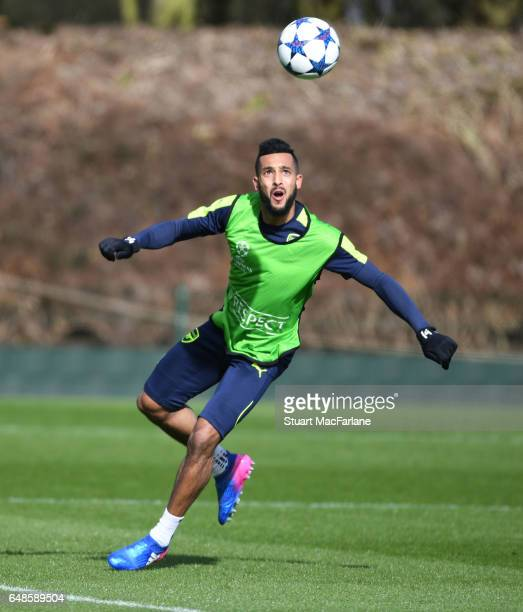 Theo Walcott of Arsenal during a training session at London Colney on March 6 2017 in St Albans England