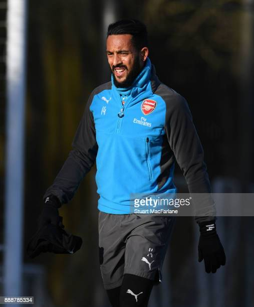 Theo Walcott of Arsenal during a training session at London Colney on December 9 2017 in St Albans England