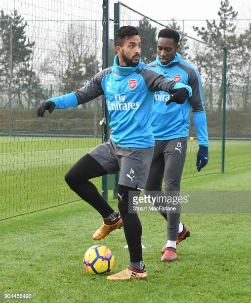 Theo Walcott of Arsenal during a training session at London Colney on January 13 2018 in St Albans England