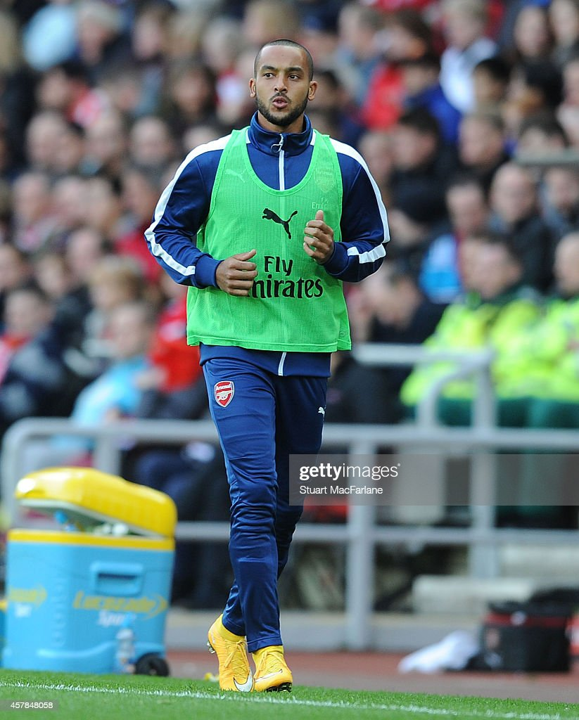 Theo Walcott of Arsenal during the Barclays Premier League match between Sunderland and Arsenal at Stadium of Light on October 25, 2014 in Sunderland, England.