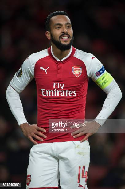 Theo Walcott of Arsenal during the UEFA Europa League group H match between Arsenal FC and BATE Borisov at Emirates Stadium on December 7 2017 in...
