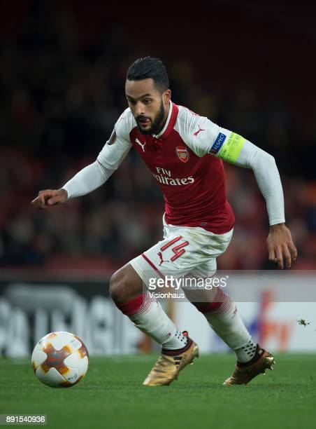 Theo Walcott of Arsenal in action during the UEFA Europa League group H match between Arsenal FC and BATE Borisov at Emirates Stadium on December 7...
