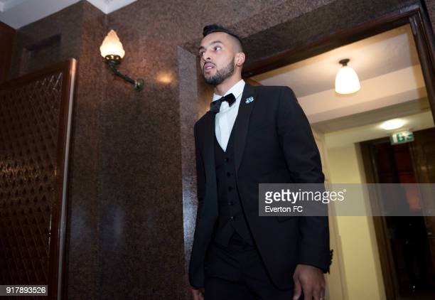 Theo Walcott of Everton arriving during the Everton in the Community Gala Dinner at St Georges Hall on February 13 2018 in Liverpool England