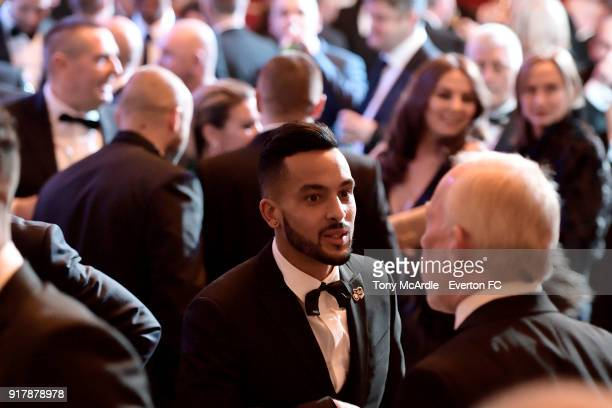 Theo Walcott of Everton during the Everton in the Community Gala Dinner at St George's Hall on February 13 2018 in Liverpool England
