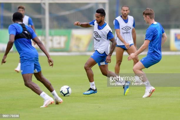Theo Walcott of Everton during the Everton training session on July 10 2018 in Bad Mitterndorf Austria