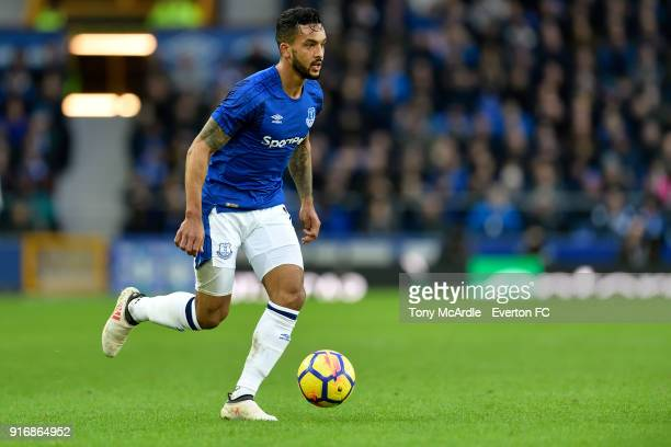 Theo Walcott of Everton during the Premier League match between Everton and Crystal Palace at Goodison Park on February 10 2018 in Liverpool England