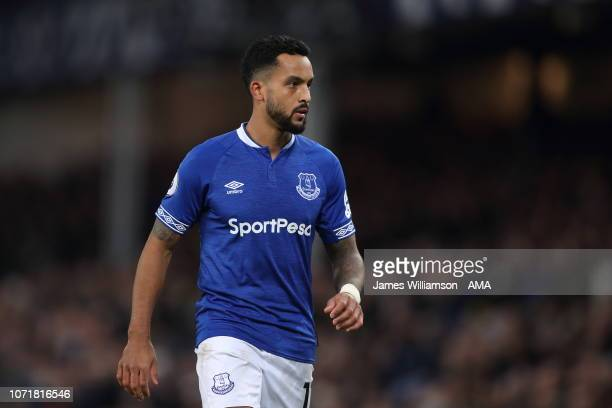 Theo Walcott of Everton during the Premier League match between Everton FC and Watford FC at Goodison Park on December 10 2018 in Liverpool United...