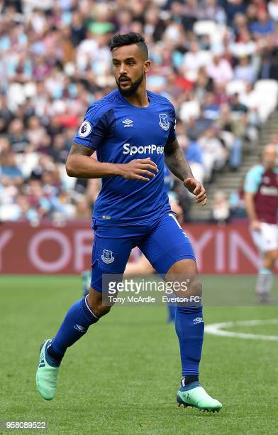 Theo Walcott of Everton during the Premier League match between West Ham United and Everton at London Stadium on May 13 2018 in London England