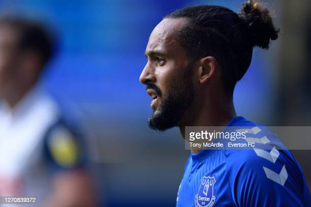 Theo Walcott of Everton during the PreSeason Friendly match between Everton and Preston North End at Goodison Park on September 5 2020 in Liverpool...