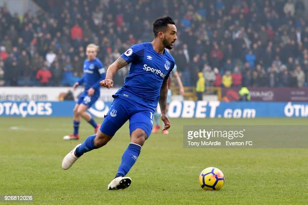 Theo Walcott of Everton on the ball during the Premier League match between Burnley and Everton at Turf Moor on March 3 2018 in Burnley England