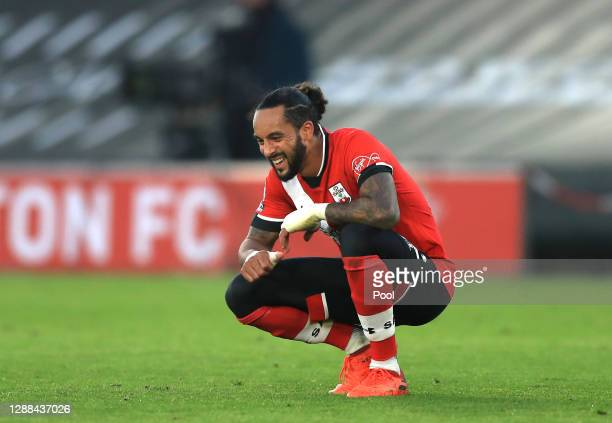 Theo Walcott of Southampton reacts following their sides defeat in the Premier League match between Southampton and Manchester United at St Mary's...