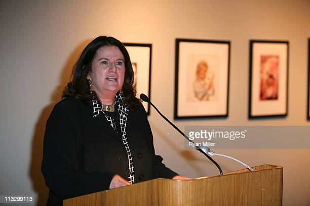 Theo Westenberger Archive's Colleen Keegan speaks during the first Theo Westenberger Grant for Women of Excellence at The Autry National Center on...