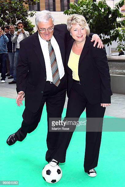 Theo Zwanziger , president of the German Football Federation and Cornelia Pieper , Minister of State are pictured at Ministry of Foreign Affairs on...