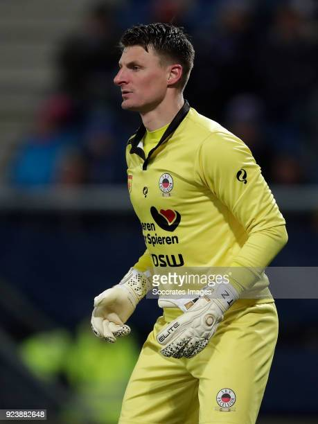 Theo Zwarthoed of Excelsior during the Dutch Eredivisie match between SC Heerenveen v Excelsior at the Abe Lenstra Stadium on February 24 2018 in...