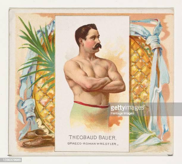 Theobaud Bauer, Graeco-Roman Wrestler, from World's Champions, Second Series for Allen & Ginter Cigarettes, 1888. Artist Allen & Ginter.