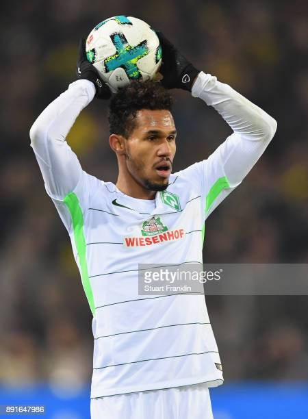 Theodor Gebre Selassie of Bremen in action during the Bundesliga match between Borussia Dortmund and SV Werder Bremen at Signal Iduna Park on...
