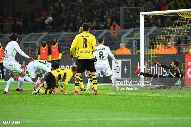 Theodor Gebre Selassie of Bremen scores a goal to make it 12 during the Bundesliga match between Borussia Dortmund and SV Werder Bremen at Signal...