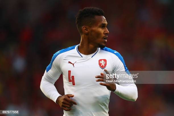 Theodor Gebre Selassie of the Czech Republic in action during the International Friendly match between Belgium and Czech Republic at Stade Roi...