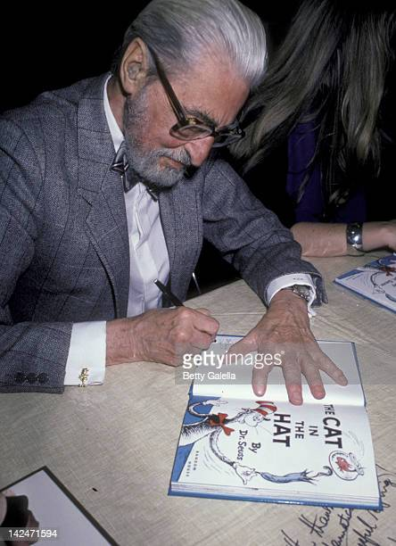 Theodor Geisel attends Dr. Suess In-Store Appearance on March 1, 1986 at Caldor in Yonkers, New York.