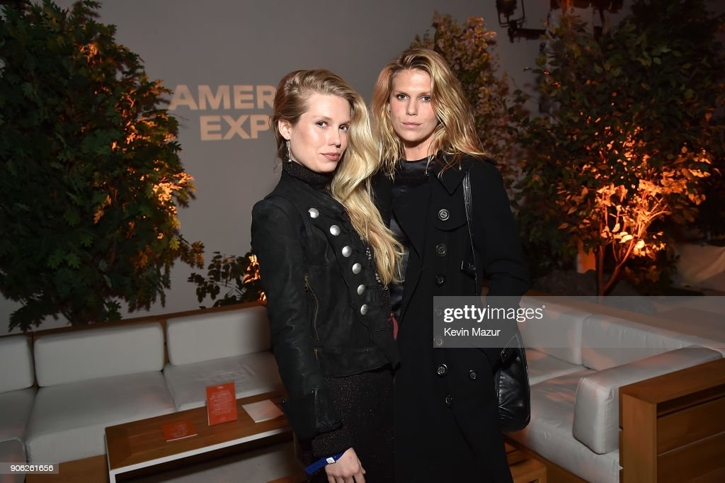 Theodora Richards and Alexandra Richards attend American Express x Justin Timberlake 'Man Of The Woods' listening session at Skylight Clarkson Sq on January 17, 2018 in New York City.