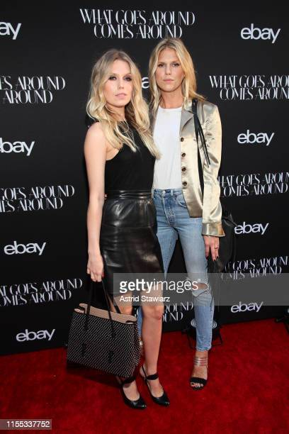 Theodora Richards and Alexandra Richards attend the What Goes Around Comes Around X eBay partnership launch event on June 11 2019 in New York City