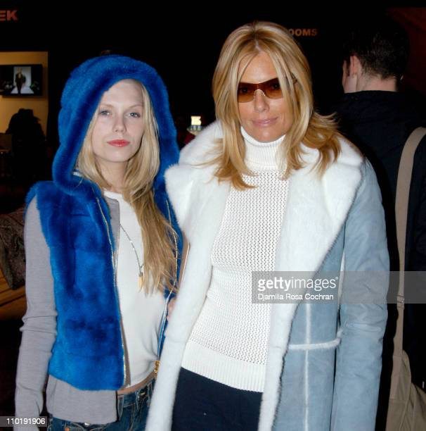 Theodora Richards and Patti Hansen during Olympus Fashion Week Fall 2004 - Seen at Bryant Park - Day 6 at Bryant Park in New York City, New York,...