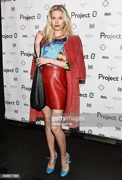 Theodora Richards attends A Love Affair With World Oceans Day at Milk Studios on June 8 2016 in New York City
