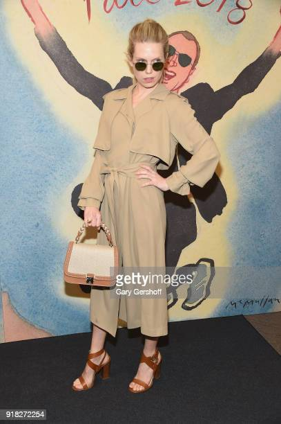 Theodora Richards attends the Michael Kors fashion show during New York Fashion Week at Vivian Beaumont Theatre on February 14 2018 in New York City