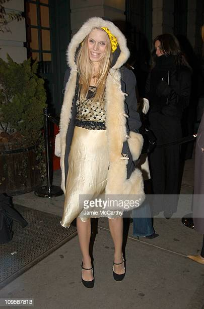 Theodora Richards during Olympus Fashion Week Fall 2005 Calvin Klein After Party in New York City New York United States