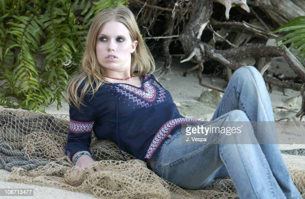 Theodora Richards during Tommy Jeans Photo Shoot in Mustique in Mustique Bahamas