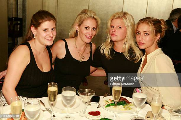 Theodora Roosevelt Avry Broadbent Caroline Rowley and Alina Kohlem attend DAVID LACHAPELLE Exhibition Celebration Dinner at Mr Chow on September 12...