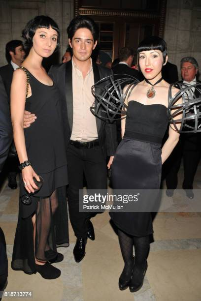 Theodora Sopko Manuel Norena and Michelle Harper attend amFAR Inspiration Gala at New York Public Library on June 3 2010 in New York City