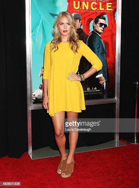 Theodora Woolley attends The Man From UNCLE New York Premiere at Ziegfeld Theater on August 10 2015 in New York City