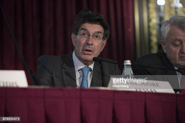 Theodore Fessas chairman of Quest Holdings SA speaks at the 18th Annual Capital Link Inc Invest in Greece Forum in New York US on Monday Dec 12 2016...