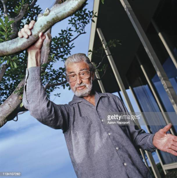 Theodore Geisel better known as Dr Seuss poses for a portrait in December 1985 in Los Angeles California
