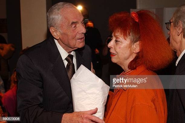 Theodore Kheel and JeanneClaude attend Hermes celebrates The Gates and the artists Christo and JeanneClaude with Albert Maysles at The Gallery at...