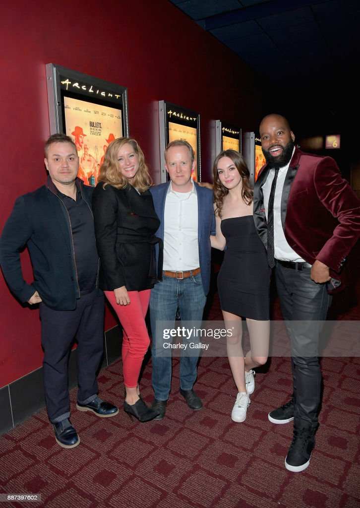 Theodore Melfi, Kimberly Quinn, Ian Bricke, Michelle Mylett and David E. Talbert attend Special Screening Of Netflix Films' 'El Camino Christmas' at ArcLight Cinemas on December 6, 2017 in Hollywood, California.