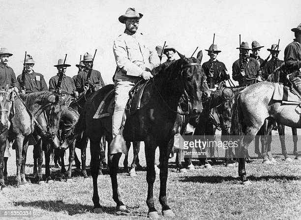 Theodore Roosevelt and the Rough Riders Undated photograph