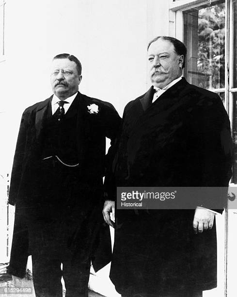 Theodore Roosevelt and William Taft