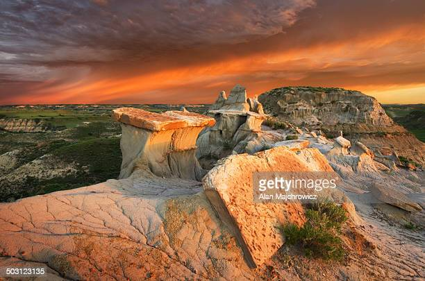 theodore roosevelt national park, north dakota - north dakota stock pictures, royalty-free photos & images