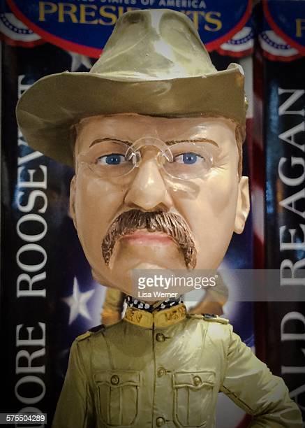 Theodore Roosevelt novelty bobblehead doll in Washington D C