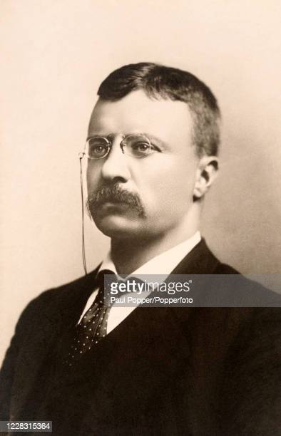 Theodore Roosevelt, president of the United States from 1901 to 1909, circa 1900.