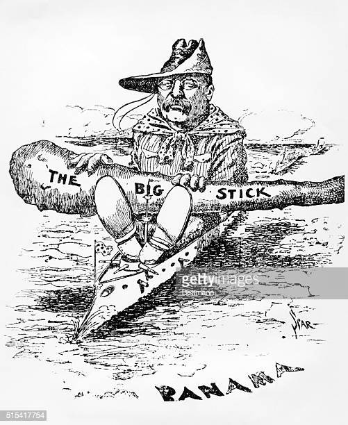 Theodore Roosevelt steams down to Panama carrying his 'Big Stick'