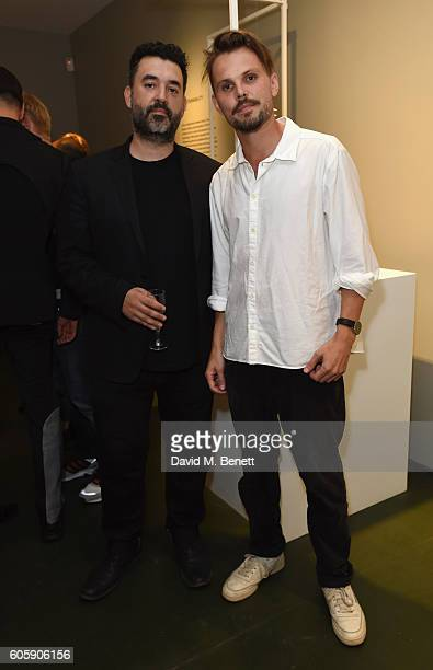 Theodore Spyropoulos and Fred Allsop attend The Extraordinary Process Private View at Gallery Maison Mais Non on September 15 2016 in London England