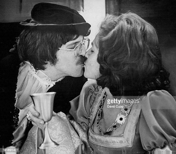 APR 11 1974 APR 13 1974 APR 14 1974 Theodoric AP Breken Beaken Gives Wedding Kiss to Lady Judith De Beaumont Ted Peak is Theodorie and Judith...