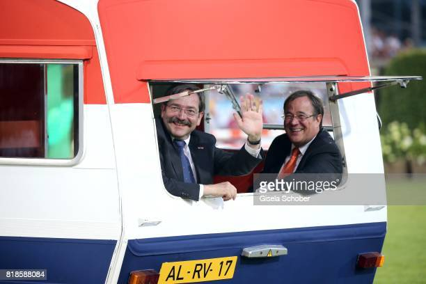 """Theodorus Jozef Franciscus Marie """"Theo"""" Bovens, Governor Limburg and Armin Laschet, Prime Minister of North Rhine-Westphalia during the media night..."""
