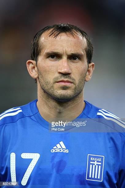 Theofanis Gekas of Greece during the Group Two FIFA World Cup 2010 qualifying match between Greece and Moldova held at the Georgios Karaiskakis...