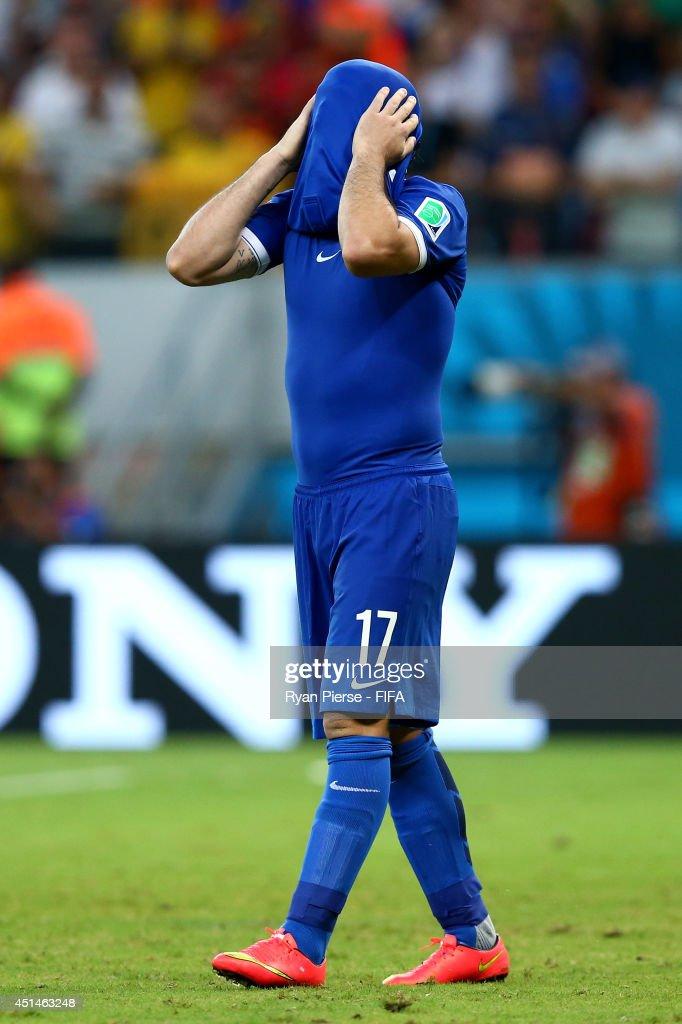 Costa Rica v Greece: Round of 16 - 2014 FIFA World Cup Brazil : News Photo