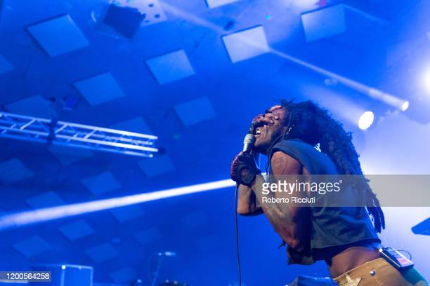 theOGM of Ho99o9 performs on stage at Barrowland Ballroom on February 13 2020 in Glasgow Scotland