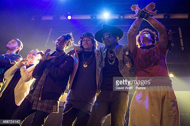 Theophilus London and les Twins performs during Howl Festival at La Gaite Lyrique on November 9 2014 in Paris France